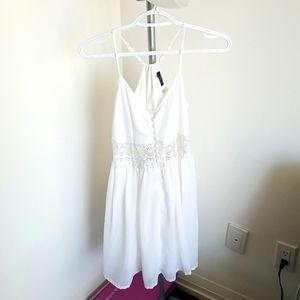 White button down sun dress